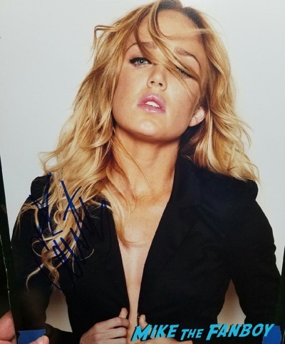 Caity Lotz signed autograph black canary poster
