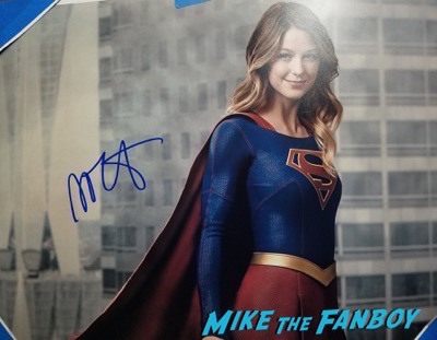 Melissa Benoist signed autograph supergirl poster