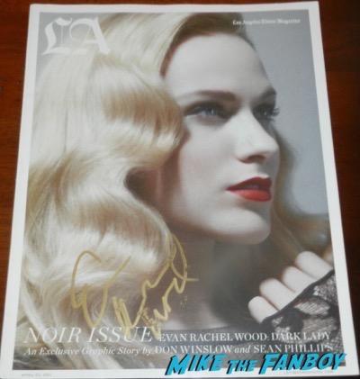 evan rachel wood signed la magazine