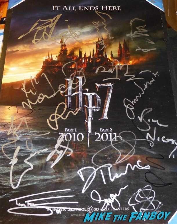 Rupert Grint signed autograph harry potter poster