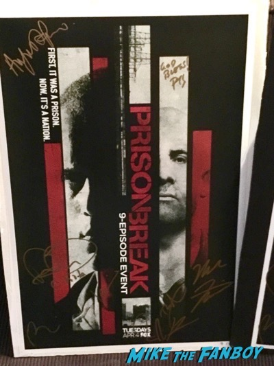 Prison Break cast signed autograph poster wentworth miller signed autograph