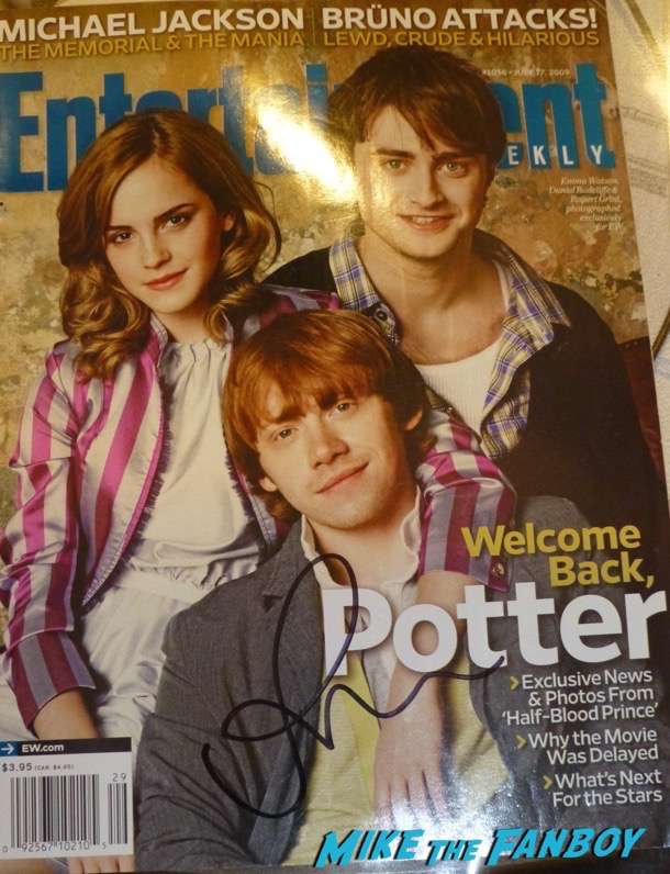 Rupert Grint signed Entertainment Weekly Magazine