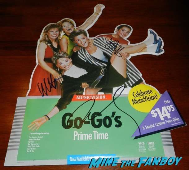 The Go-Go's signed autograph counter standee display belinda carlisle 5