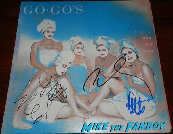 The Go-Go's signed autograph album beauty and the beat belinda carlisle 6