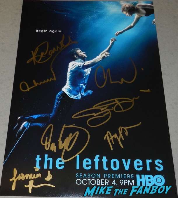 The Leftovers cast signed autograph poster psa