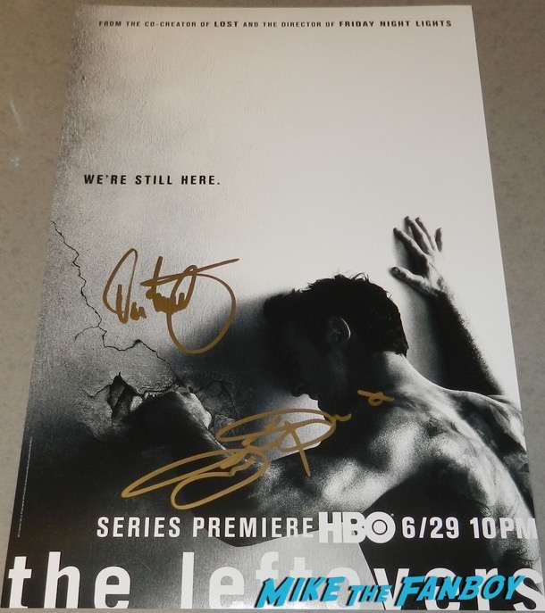 The Leftovers cast signed autograph poster psa justin theroux
