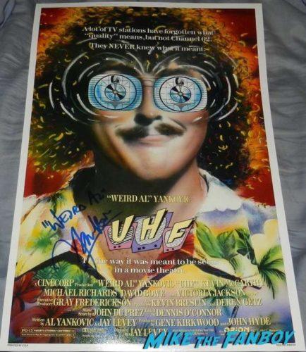 Weird al Yankovic signed autograph UHF poster psa