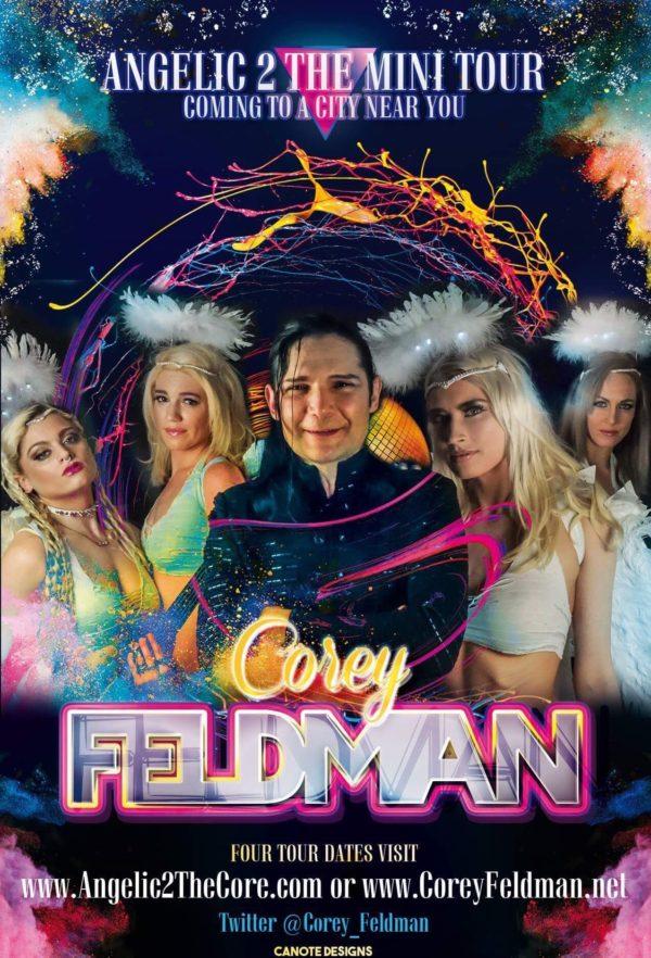 Corey Feldman concert tour flyer Corey's Angelic 2 the Core Mini Tour
