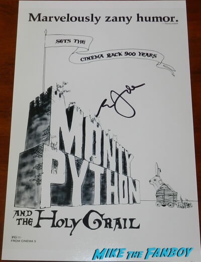 eric idle signed autograph monty python and the holy grail poster