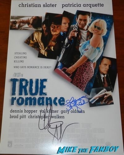 Christian Slater signed autograph True Romance poster