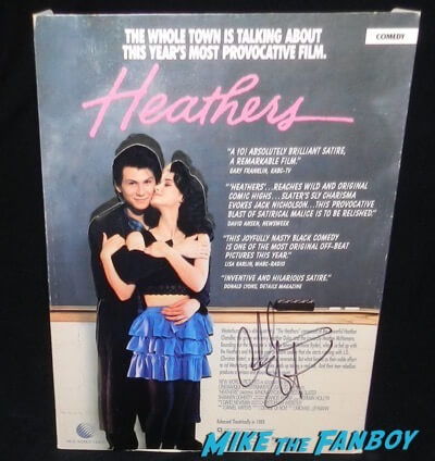 Christian Slater signed autograph heathers counter standee display
