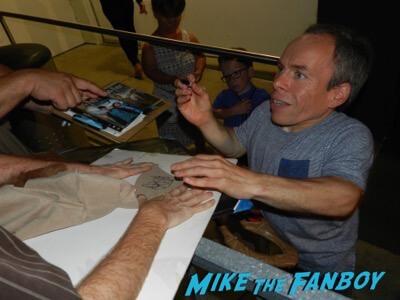 Warwick Davis signing autographs meeting fans rare