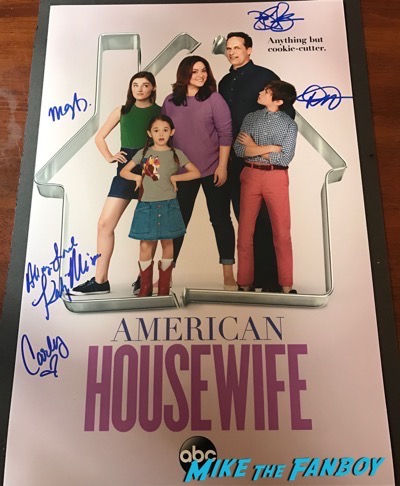 American Housewife signed autograph cast poster