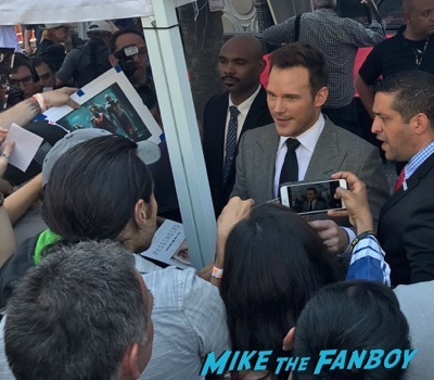 Chris Pratt walk of fame star ceremony meeting fans signing autographs 1
