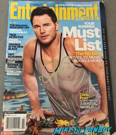 Chris Pratt signed autograph entertainment weekly magazine psa