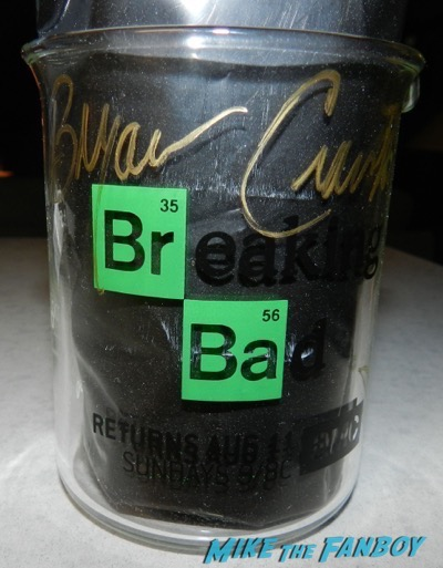 Bryan Cranston Aaron Paul Signed autograph breaking bad SDCC promo glass beaker PSA