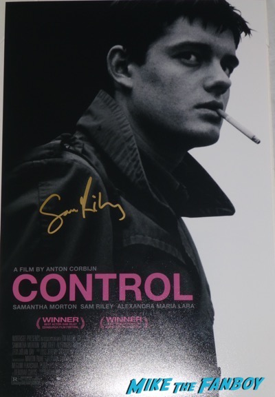 sam riley signed autographs Control Poster