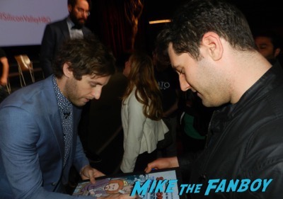 Thomas Middleditch meeting fans signing autographs Silicon Valley FYC q and a meeting fans