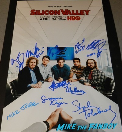 silicon valley season two cast signed autograph poster