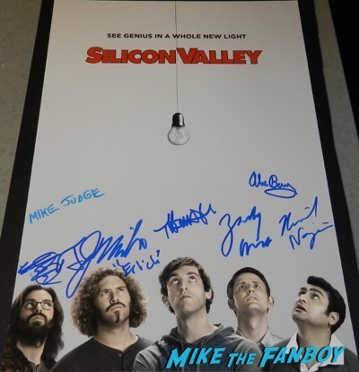 silicon valley season three cast signed autograph poster