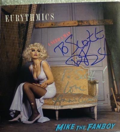 Dave Stewart annie lennox signed autograph lp I need a man psa