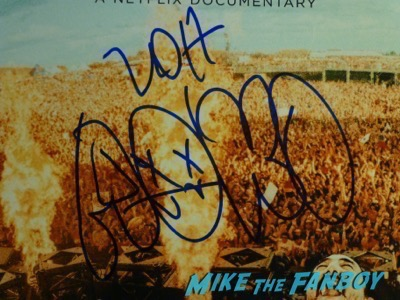 steve aoki signed autograph poster