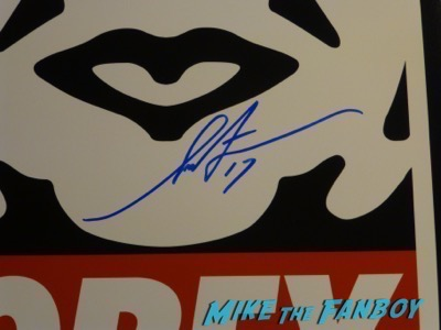 Shepard Fairey Meeting Fans signing autographs PSA eurythmics 16