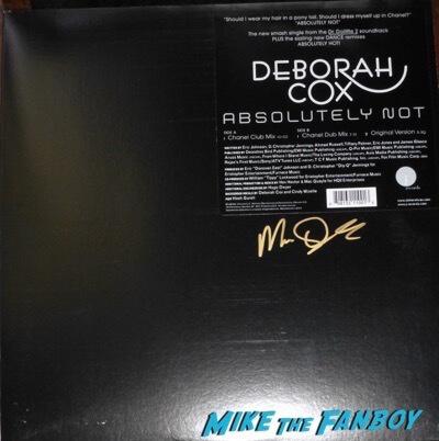 Deborah Cox  Mac Quayle signed autograph LP Record