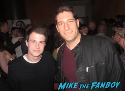 Dylan Minnette meeting fans selfie signing autographs 1