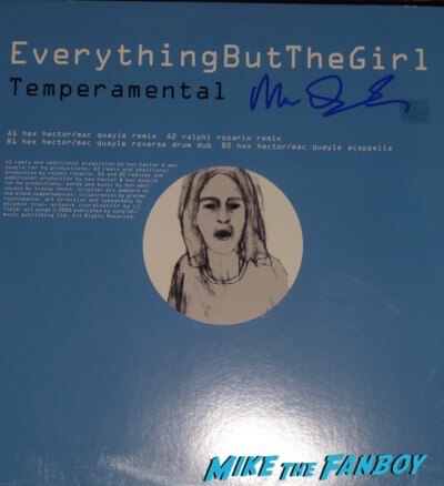 Everything But The Girl Mac Quayle signed autograph LP Record
