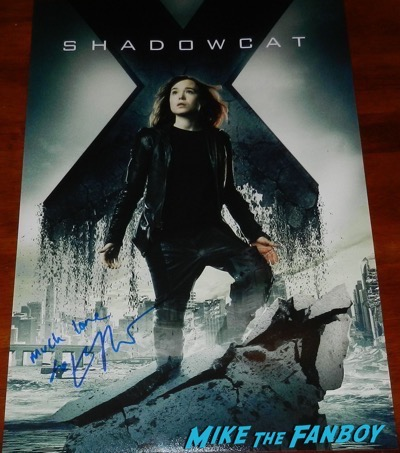 Ellen Page signed Shadowcat x-men poster