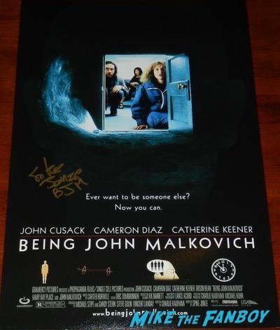 Spike Jonze signed Being John Malkovich poster