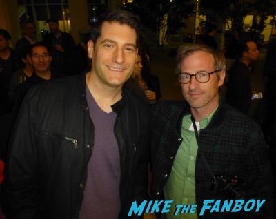 Spike Jonze meeting fans signing autographs