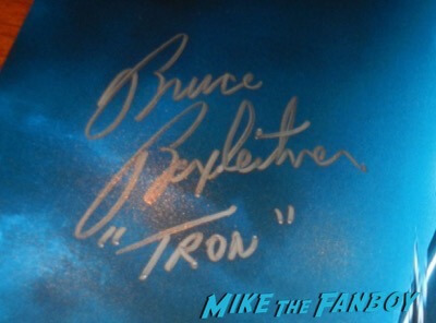 Bruce Boxleitner signed autograph tron: Legacy poster