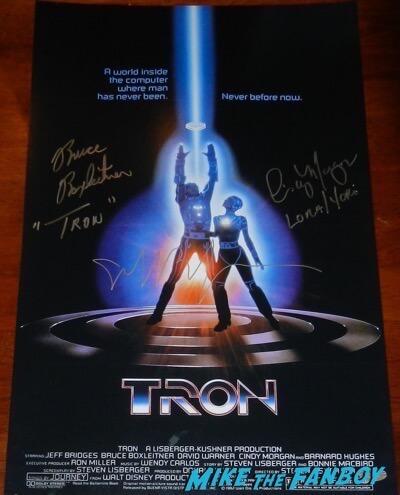 Bruce Boxleitner jeff bridges signed autograph tron poster