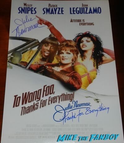 Julie Newmar signed autograph Too Wong Fo Thanks for Everything Julie Newmar poster