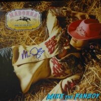 Madonna Mac Quayle signed autograph LP Record