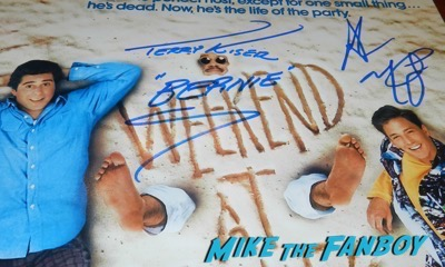 Terry Kiser signed autograph weekend at Bernie's poster andrew mcCarthy jonathan silverman