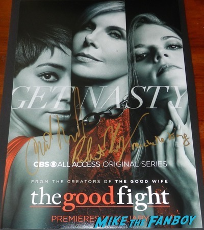 The Good Fight signed autograph poster christine baranski michelle robert king