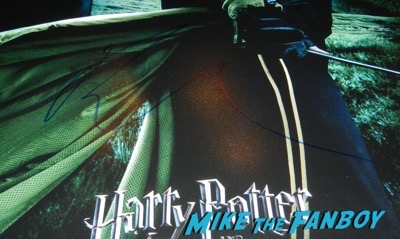 robert pattinson signed autograprobert pattinson signed autograph harry potter poster psah harry potter poster psa