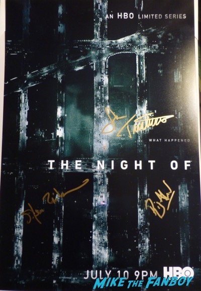 Riz Ahmed John Tuturro signed autograph the night of poster psa