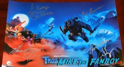Trollhunters wondercon signed autograph poster 2017