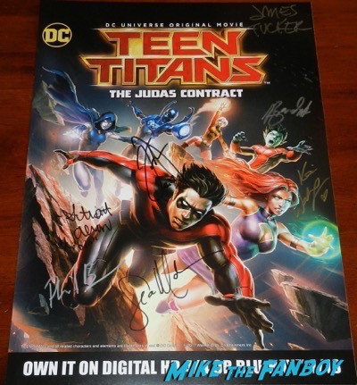 Teen Titans Go Judas Contract  wondercon signed autograph poster 2017