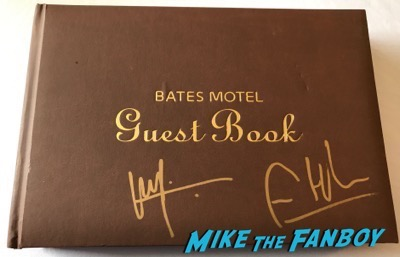 Bates Motel Guest book signed by freddie highmore vera farmiga autograph psa