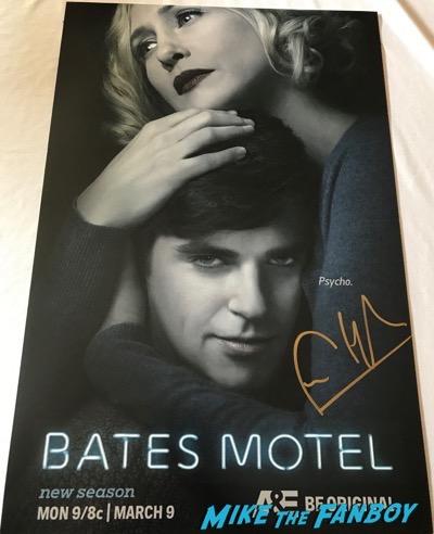 Bates Motel season 2 poster signed by freddie highmore vera farmiga autograph psa