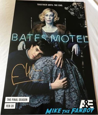 Bates Motel final season poster signed by freddie highmore vera farmiga autograph psa