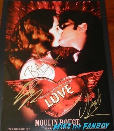 Baz Luhrmann ewan McGregor Nicole Kidman signed Moulin Rouge! poster psa