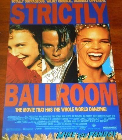 Baz Luhrmann signed strictly ballroom poster psa