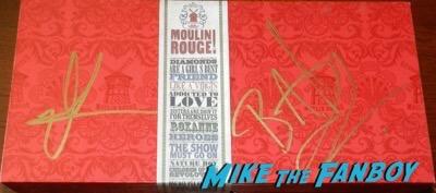 Baz Luhrmann nicole kidman signed moulin rouge red box set psa