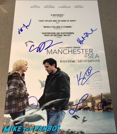 manchester by the sea cast signed autograph poster kyle chandler casey affleck psa